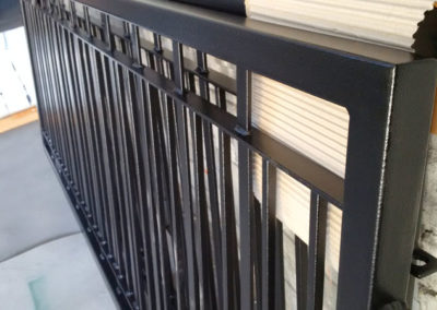 Fence Panels // Satin Black Ripple