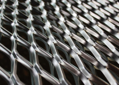 Expanded Mesh // Silver Passivated Zinc