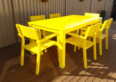 Outdoor Table & Chairs // Schweppes Yellow