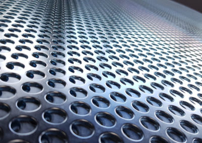 Punched Mesh Panels // Silver Passivated Zinc