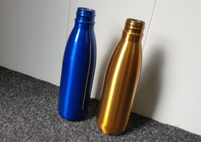 Stainless Steel Drink Bottles // Lucent Sapphire & Crystal Brass